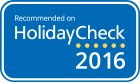 Recommended on HolidayCheck 2016